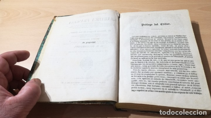 Libros antiguos: GRAMATICA FRANCESA - ANTONIO BERGNES DE LAS CASAS - JUAN OLIVARES IMPRESOR BARCELONA 1858 - Foto 6 - 180276958