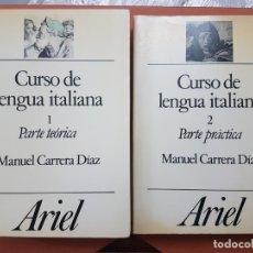 Libros antiguos: CURSO DE LENGUA ITALIANA , EDITORIAL ARIEL 2 TOMOS. Lote 180978140