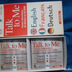 Libros antiguos: TALK TO ME - CURSOS DE IDIOMAS EN CD-ROM. Lote 181429463