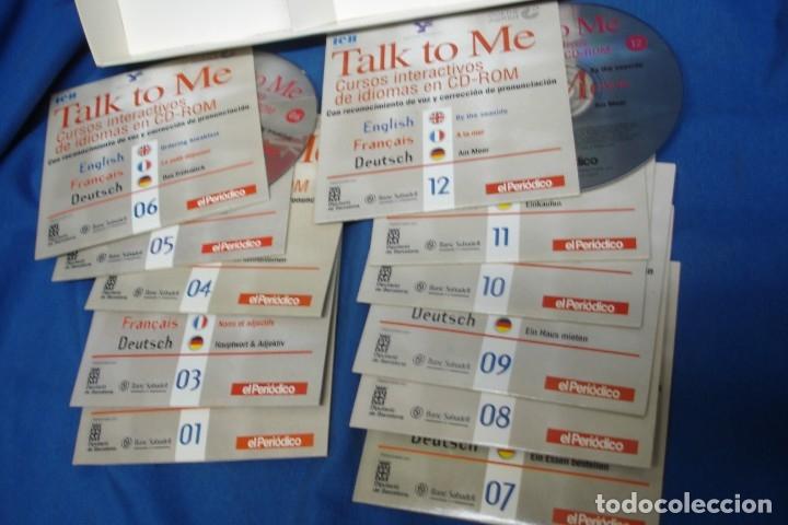 Libros antiguos: TALK TO ME - CURSOS DE IDIOMAS EN CD-ROM - Foto 2 - 181429463