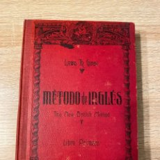 Libros antiguos: METODO DE INGLES. LEWIS TH. GIRAU. EDITORIAL MAGISTER. BARCELONA, 1925. PAGS: 288. Lote 181624110