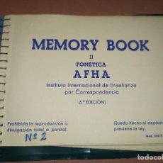 Libros antiguos: MEMORY BOOK N° 2 AFHA. Lote 182231706