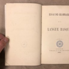 Libros antiguos: ESAAI DE GRAMMAIRE DE LANGUE BASQUE. WILLEM J. VAN EYS. LIBRAIRE DE C.M. VAN GOGH 1865. EUSKERA. Lote 182628883