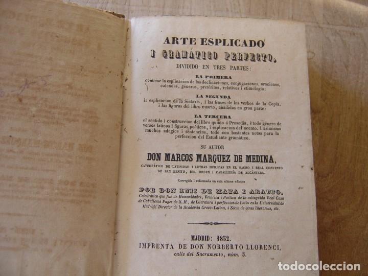 ARTE EXPLICADO GRAMÁTICO PERFECTO. MARCOS MÁRQUEZ DE MEDINA. 1852 (Libros Antiguos, Raros y Curiosos - Cursos de Idiomas)