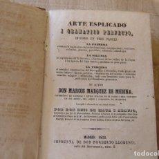 Libros antiguos: ARTE EXPLICADO GRAMÁTICO PERFECTO. MARCOS MÁRQUEZ DE MEDINA. 1852. Lote 182947412