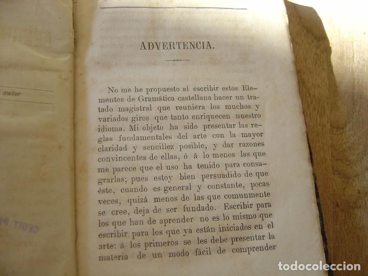 Libros antiguos: GRAMÁTICA ELEMENTAL DE LA LENGUA CASTELLANA. JOSÉ GIRÓ Y ROMA. 1884 - Foto 4 - 182947835