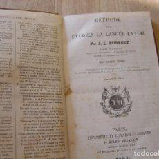 Libros antiguos: MÉTHODE POUR ÉTUDIER LA LANGUE LATINE PAR J. L. BURNOUF.1864. Lote 182948301