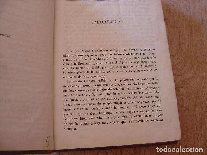 Libros antiguos: NUEVA CRESTOMATIA GRIEGA, SELECTAS EN PROSA Y VERSO DE AUTORES CLÁSICOS DE LA ANTIGUA GRECIA. 1861 - Foto 4 - 182949430