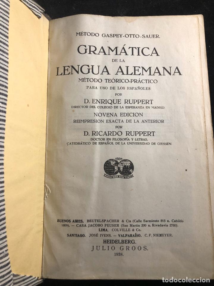 GRAMÁTICA ELEMENTAL DE LA LENGUA ALEMANA (Libros Antiguos, Raros y Curiosos - Cursos de Idiomas)