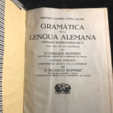 Libros antiguos: GRAMÁTICA ELEMENTAL DE LA LENGUA ALEMANA. Lote 257698665