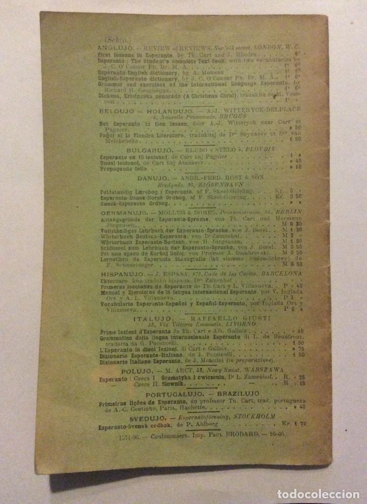 Libros antiguos: Primeras lecciones de Esperanto,por TH Cart, 1906. 5º edición 30 pag. 11 x 17,5 cm - Foto 3 - 183581830