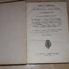 Libros antiguos: NUEVA Y COMPLETA GRAMÁTICA ITALIANA EXPLICADA EN ESPAÑOL. DON PEDRO TOMASI. 1824. Lote 183844603
