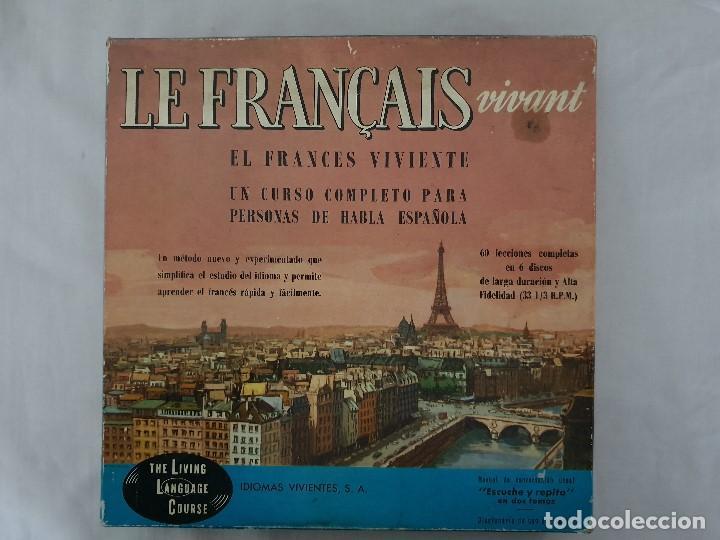 EL FRANCES VIVIENTE CURSO DE FRANCES CAJA DE 6 DISCOS (Libros Antiguos, Raros y Curiosos - Cursos de Idiomas)