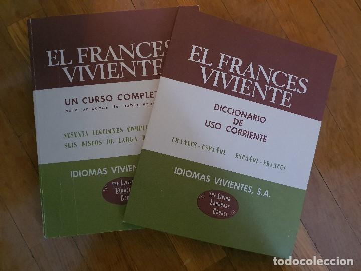 Libros antiguos: EL FRANCES VIVIENTE CURSO DE FRANCES CAJA DE 6 DISCOS - Foto 2 - 186053666