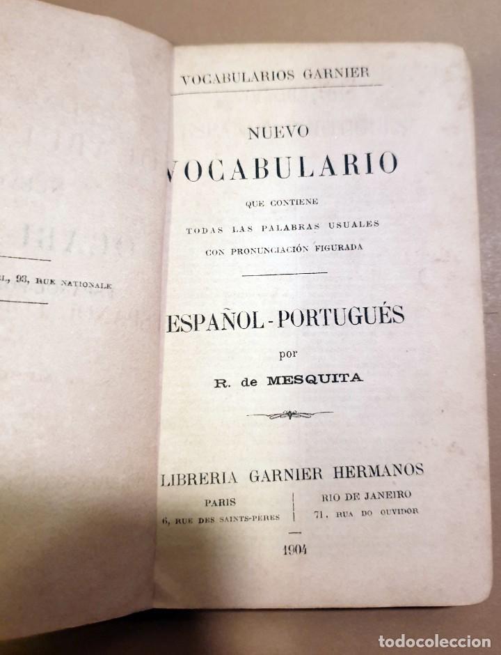 Libros antiguos: ESPAÑOL - PORTUGUES - VOCABULARIOS GARNIER - 1904 - Foto 2 - 187234465