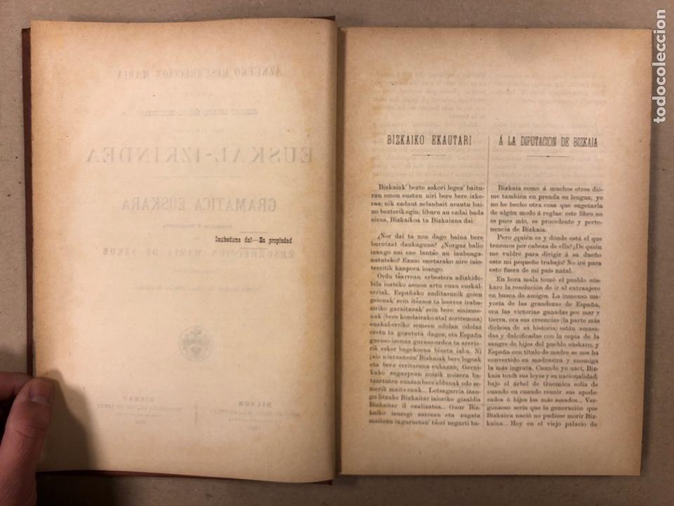 Libros antiguos: EUSKAL - IZKINDEA, GRAMÁTICA EÚSKARA POR RESURRECCIÓN MARÍA DE AZKUE. 1891 TIPOGRAFÍA DE JOSÉ DE AST - Foto 3 - 190345885