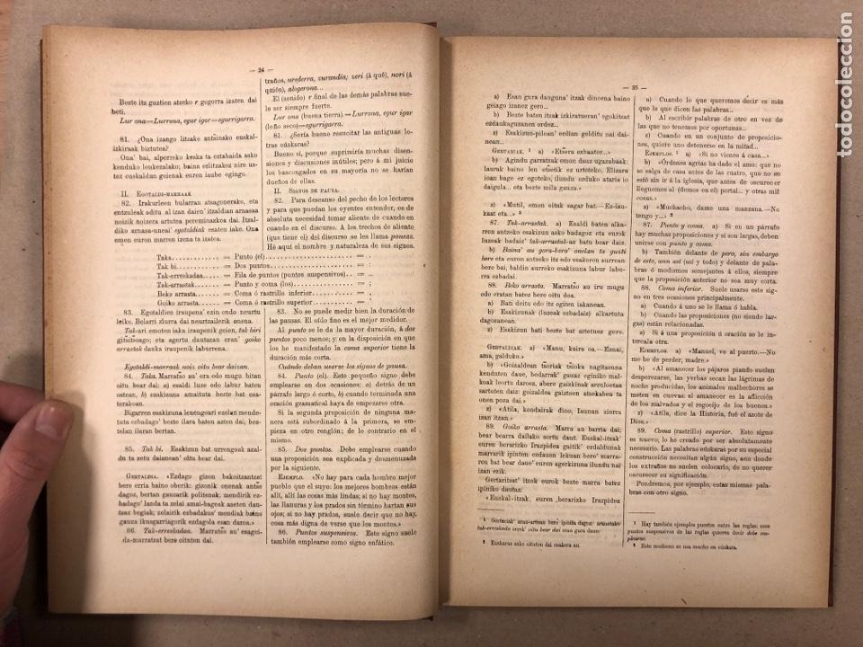 Libros antiguos: EUSKAL - IZKINDEA, GRAMÁTICA EÚSKARA POR RESURRECCIÓN MARÍA DE AZKUE. 1891 TIPOGRAFÍA DE JOSÉ DE AST - Foto 4 - 190345885