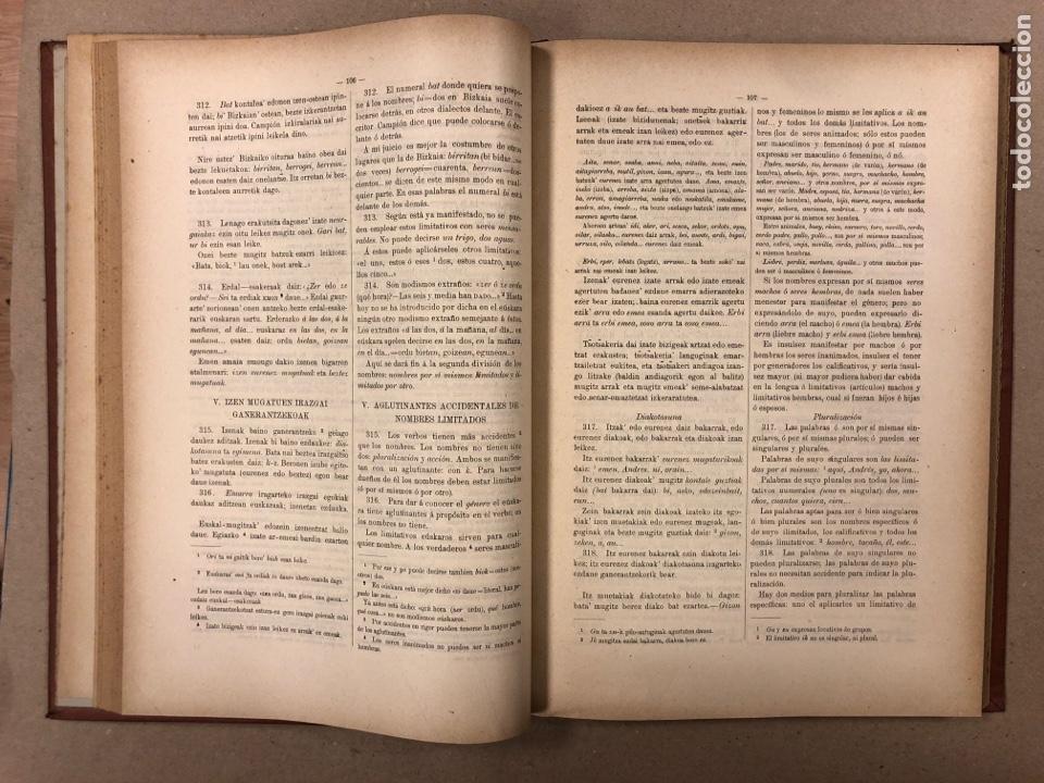 Libros antiguos: EUSKAL - IZKINDEA, GRAMÁTICA EÚSKARA POR RESURRECCIÓN MARÍA DE AZKUE. 1891 TIPOGRAFÍA DE JOSÉ DE AST - Foto 5 - 190345885
