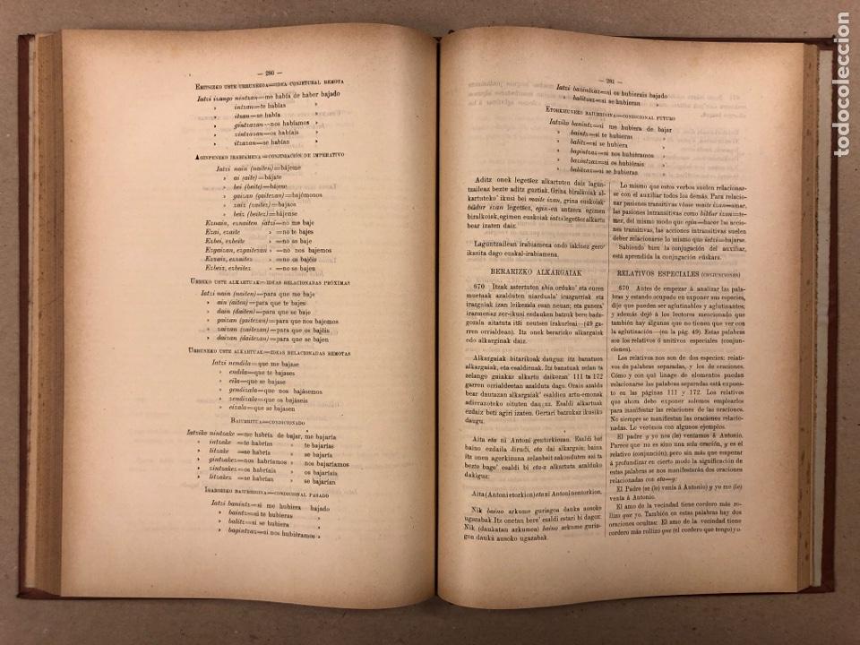 Libros antiguos: EUSKAL - IZKINDEA, GRAMÁTICA EÚSKARA POR RESURRECCIÓN MARÍA DE AZKUE. 1891 TIPOGRAFÍA DE JOSÉ DE AST - Foto 8 - 190345885