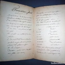 Libros antiguos: EJERCICIOS DE GRAMÁTICA. MANUSCRITO. FRANCÉS. INCLUYE 2 DESPLEGABLES.. Lote 191070738