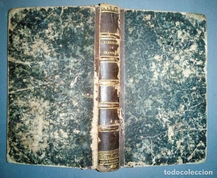 Libros antiguos: Ejercicios de gramática. Manuscrito. Francés. Incluye 2 desplegables. - Foto 3 - 191070738