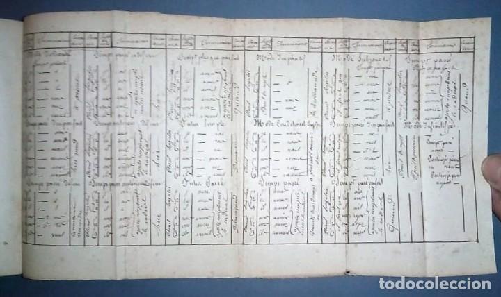 Libros antiguos: Ejercicios de gramática. Manuscrito. Francés. Incluye 2 desplegables. - Foto 8 - 191070738