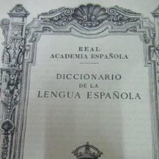 Libros antiguos: DICCIONARIO REAL ACADEMIA DE LA LENGUA ESPAÑOLA 1939 AÑO DE LA VICTORIA. MUY BUEN ESTADO. Lote 191898392