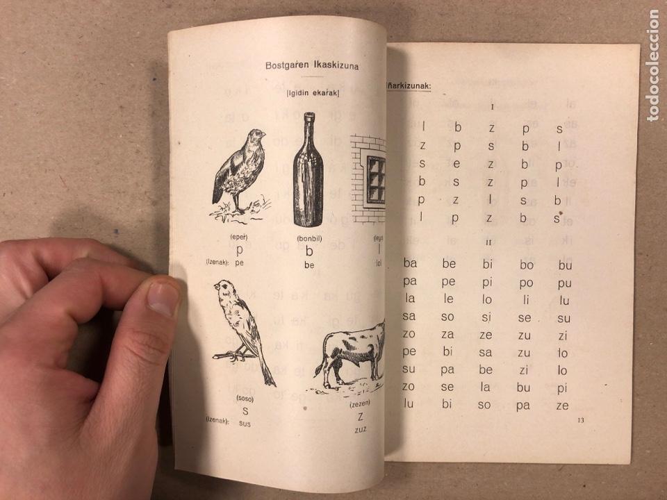 Libros antiguos: EUSKERAZ IRAKURTEKO IRAKASPIDEA TA LENENGO IRAKURKIZUNAK. ÁLVAREZ'EN IRARKOLAN 1920 (BILBAO). - Foto 4 - 195993070