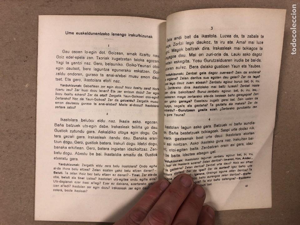 Libros antiguos: EUSKERAZ IRAKURTEKO IRAKASPIDEA TA LENENGO IRAKURKIZUNAK. ÁLVAREZ'EN IRARKOLAN 1920 (BILBAO). - Foto 5 - 195993070