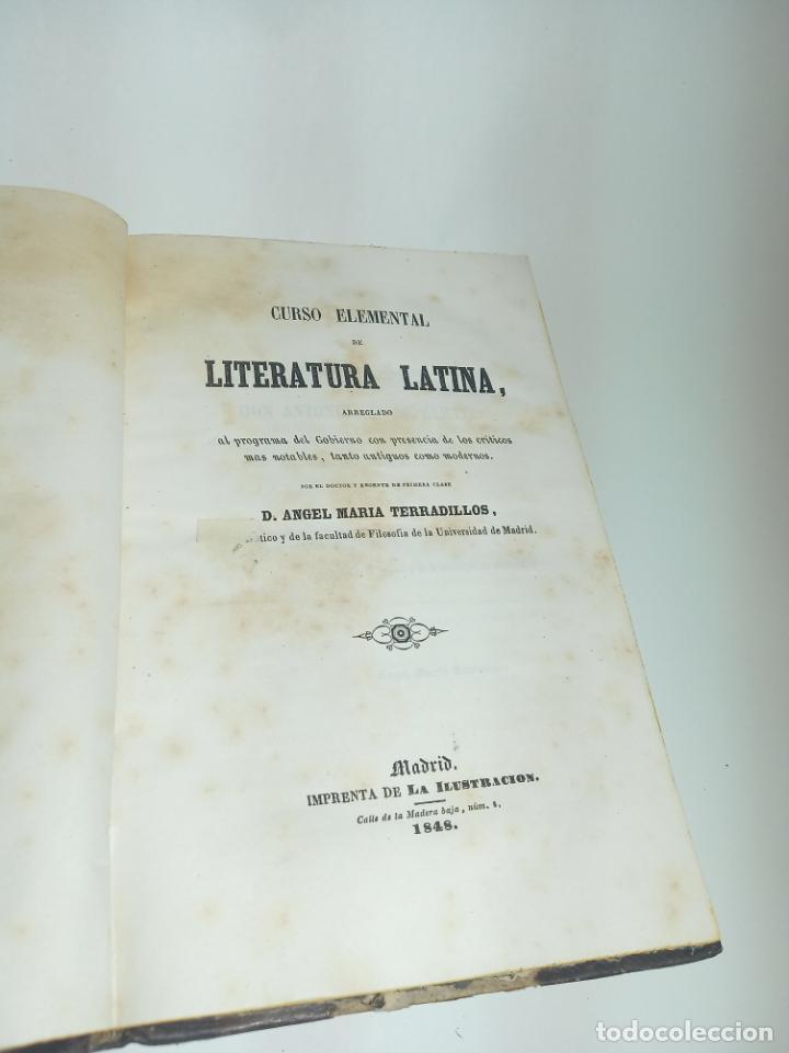 Libros antiguos: Curso elemental de literatura latina. Don Ángel María Terradillos. Imprenta de la ilustración. 1848. - Foto 2 - 198373795