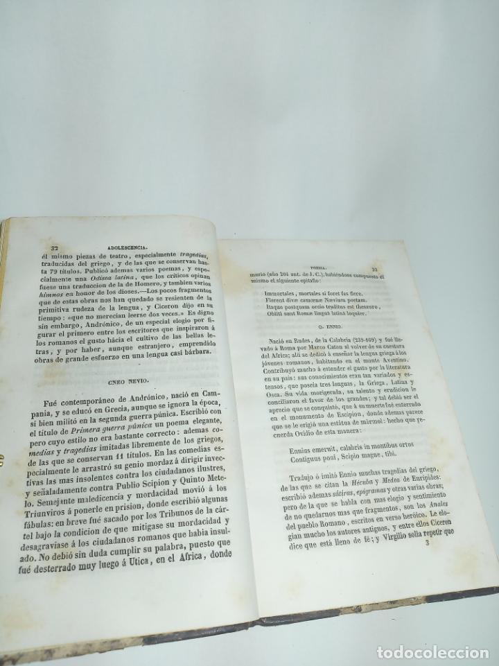 Libros antiguos: Curso elemental de literatura latina. Don Ángel María Terradillos. Imprenta de la ilustración. 1848. - Foto 4 - 198373795