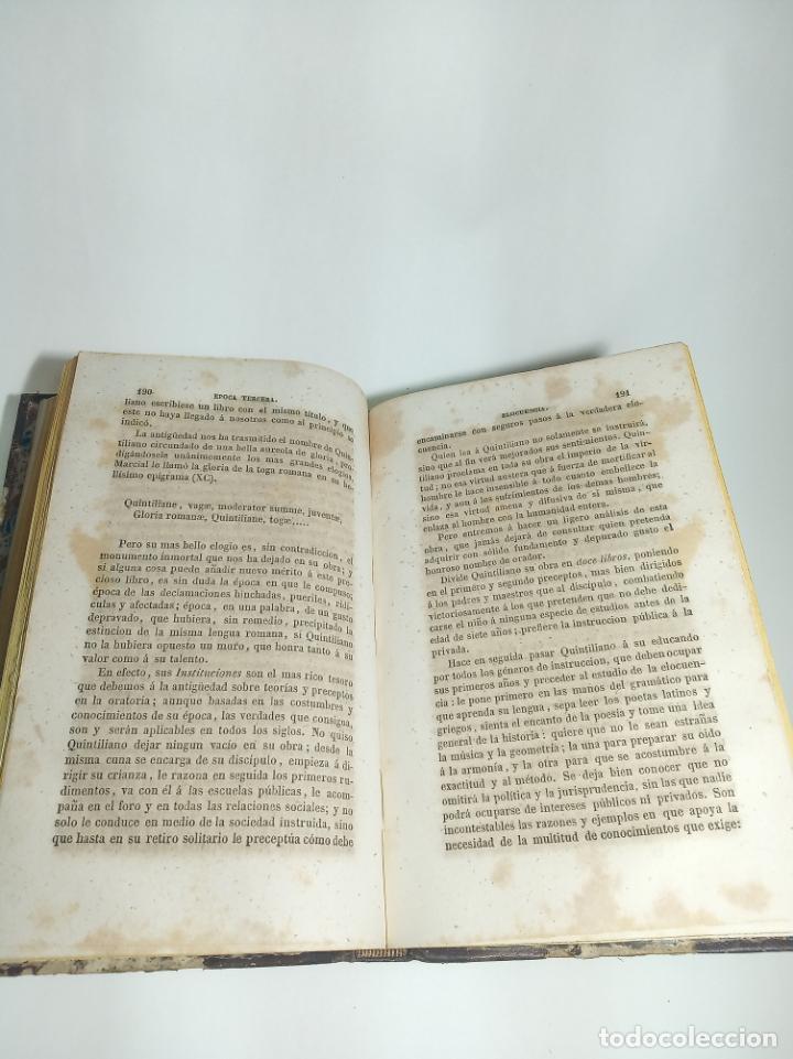 Libros antiguos: Curso elemental de literatura latina. Don Ángel María Terradillos. Imprenta de la ilustración. 1848. - Foto 5 - 198373795
