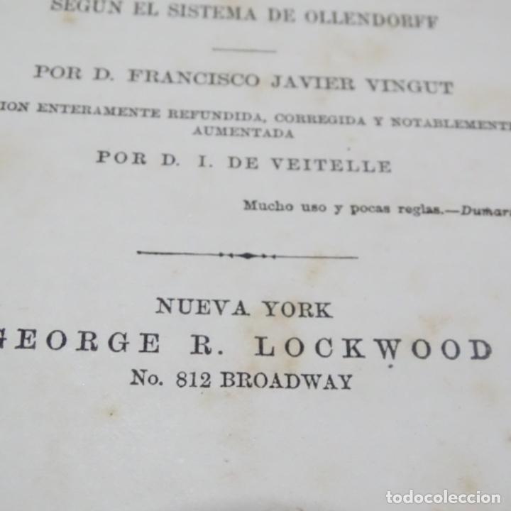 Libros antiguos: Nuevo método de inglés vingut.1869.obras masónicas de andres cassard. - Foto 4 - 198511783