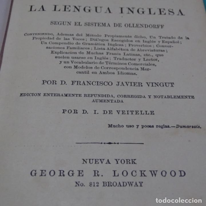 Libros antiguos: Nuevo método de inglés vingut.1869.obras masónicas de andres cassard. - Foto 6 - 198511783