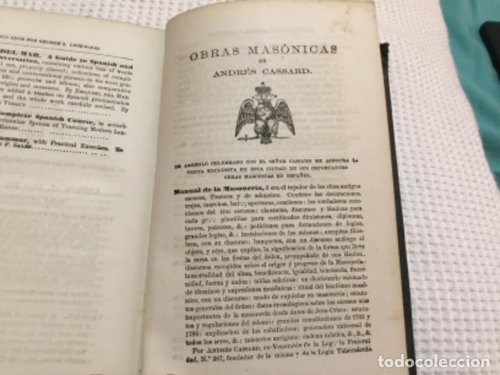 Libros antiguos: Nuevo método de inglés vingut.1869.obras masónicas de andres cassard. - Foto 8 - 198511783