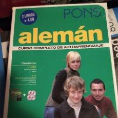 Libros antiguos: CURSO ALEMÁN PONS AUTOAPRENDIZAJE 2 LIBROS 4 CDS. Lote 198662923