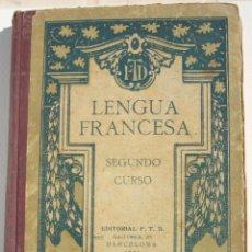 Libros antiguos: LENGUA FRANCESA 2O CURSO - FTD. Lote 200112650