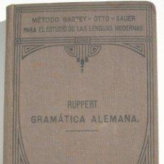 Libros antiguos: GRAMÁTICA ALEMANA - ENRIQUE RUPPERT. Lote 200356641