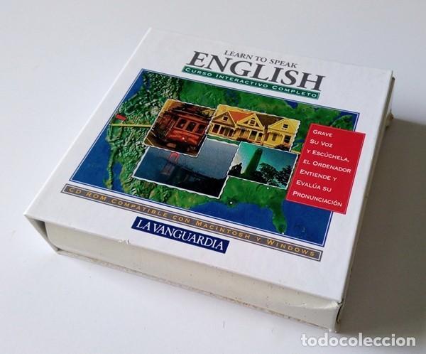 CURSO INTERACTIVO COMPLETO DE INGLÉS - LEARN TO SPEAK ENGLISH - 7 CD-ROM - LA VANGUARDIA (Libros Antiguos, Raros y Curiosos - Cursos de Idiomas)