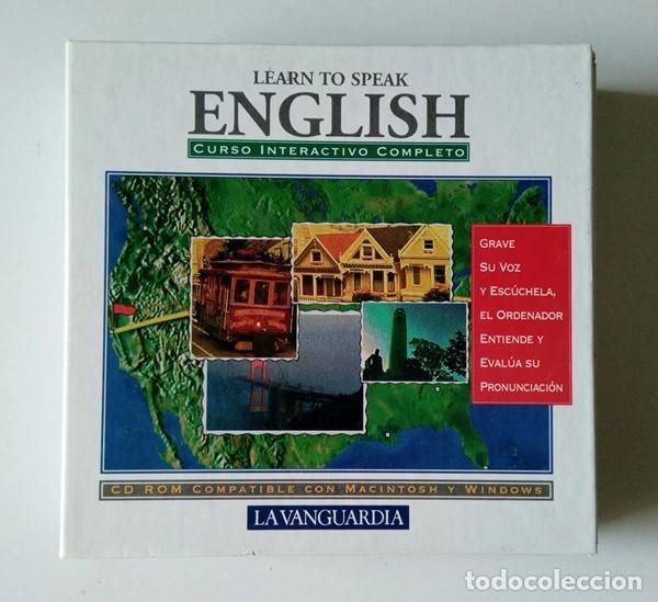 Libros antiguos: CURSO INTERACTIVO COMPLETO DE INGLÉS - LEARN TO SPEAK ENGLISH - 7 CD-ROM - LA VANGUARDIA - Foto 2 - 201139640