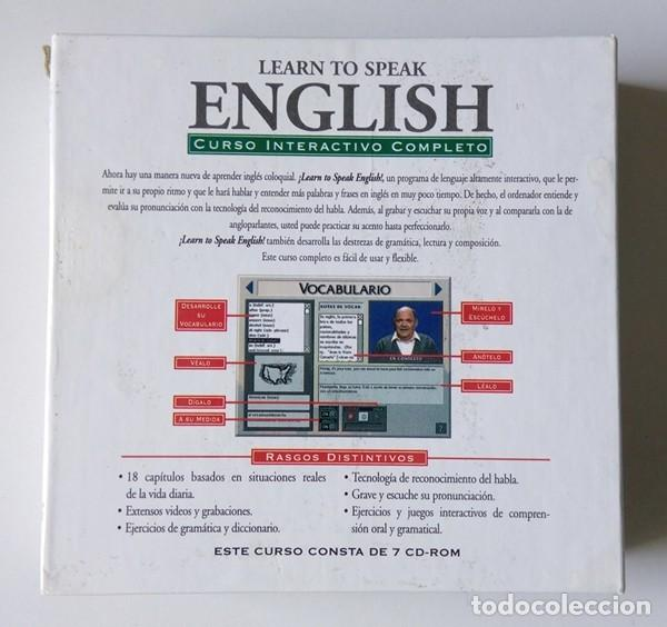 Libros antiguos: CURSO INTERACTIVO COMPLETO DE INGLÉS - LEARN TO SPEAK ENGLISH - 7 CD-ROM - LA VANGUARDIA - Foto 4 - 201139640