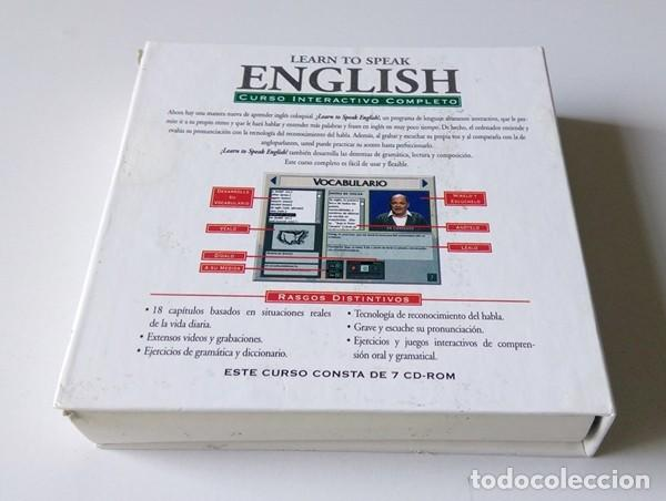 Libros antiguos: CURSO INTERACTIVO COMPLETO DE INGLÉS - LEARN TO SPEAK ENGLISH - 7 CD-ROM - LA VANGUARDIA - Foto 5 - 201139640