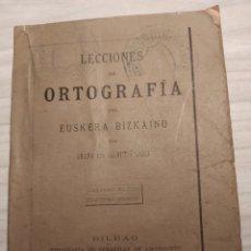 Libros antiguos: LECCIONES DE ORTOGRAFÍA - SABINO ARANA. Lote 202092955