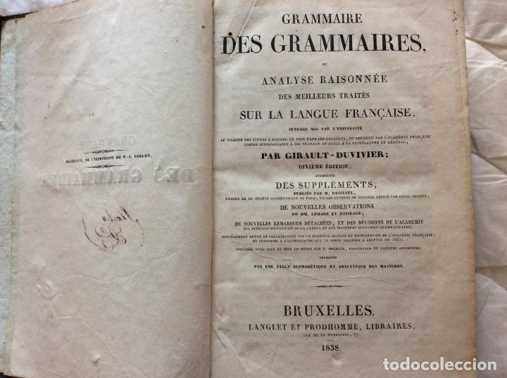 GRAMÁTICA DE LAS GRAMÁTICAS, O ANÁLISIS RAZONADO DE LOS MEJORES TRATADOS SOBRE EL IDIOMA...1838 (Libros Antiguos, Raros y Curiosos - Cursos de Idiomas)