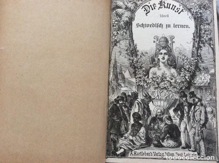 Libros antiguos: El arte de aprender el idioma sueco a través de la autoinstrucción. Poestion, J. C.189? - Foto 2 - 204728048