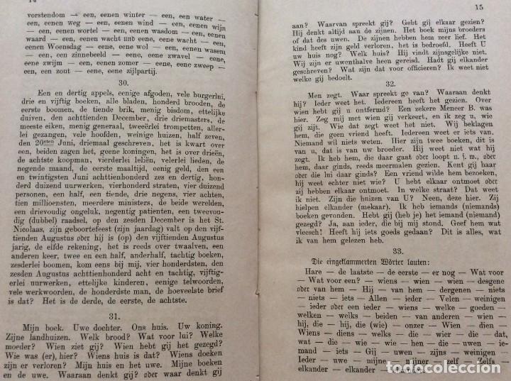 Libros antiguos: Clave para la gramática de la conversación holandesa, 1891. Por T. G. G. Valette. - Foto 4 - 204739833