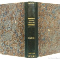 Libros antiguos: GERONA, 1843 - THESAURUS HISPANO-LATINUS - ANTIGUO DICCIONARIO ESPAÑOL-LATÍN - COMPLETO - FILOLOGÍA. Lote 205721510
