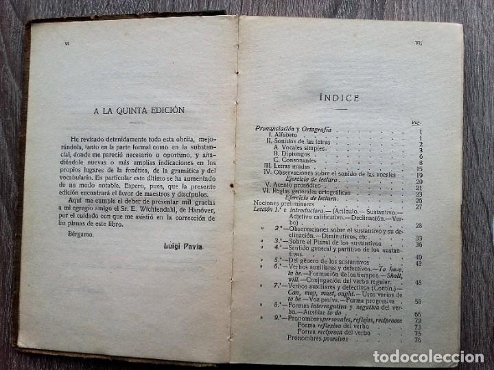 Libros antiguos: PAVIA GRAMATICA SUCINTA DE LA LENGUA INGLESA, JULIO GROOS HEIDELBERG, METODO GASPEY - Foto 4 - 206953663