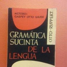 Libri antichi: GRAMATICA SUCINTA DE LA LENGUA ALEMANA. METODO GASPEY OTTO SAUER. EDITORIAL HERDER GROOS. Lote 207967852