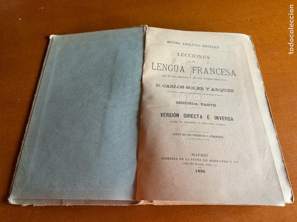 Libros antiguos: VERSIONES DE LENGUA FRANCESA C.SOLER. SEGUNDA PARTE. 1895 - Foto 4 - 208414652
